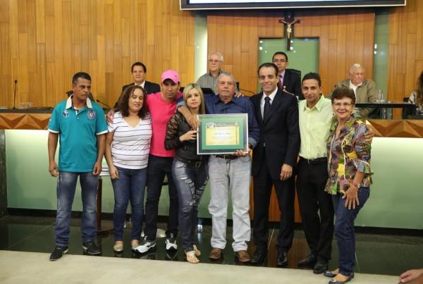 Homenagem ao líder comunitário, Chico Galdino